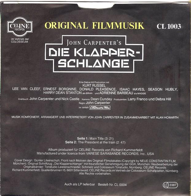Escape From New York - Die Klapperschlange - OST - D - 1981-