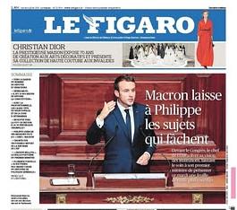 17g04 Macron deja a su primer ministro los temas que manchan