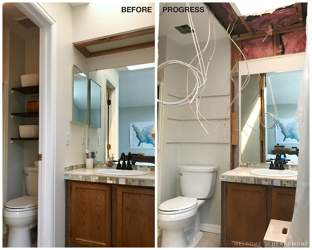 Bath Before & Progress | Welcome to Heardmont