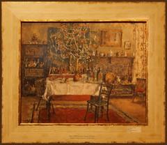 2015 S 2504 Emanuel Vidović_013 Jutro Božića Christmas morning oil on paper ca 1940