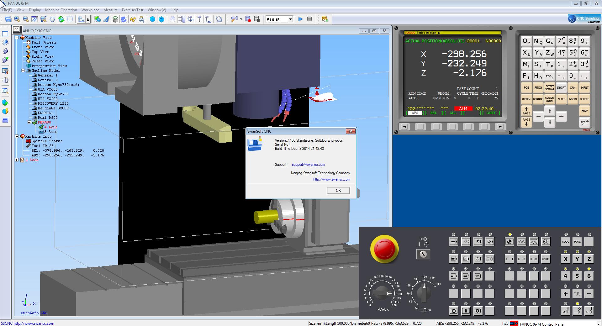 Nanjing Swansoft CNC Simulator 7.1.2 full