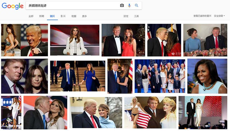 google圖片搜尋:美國總統的老婆