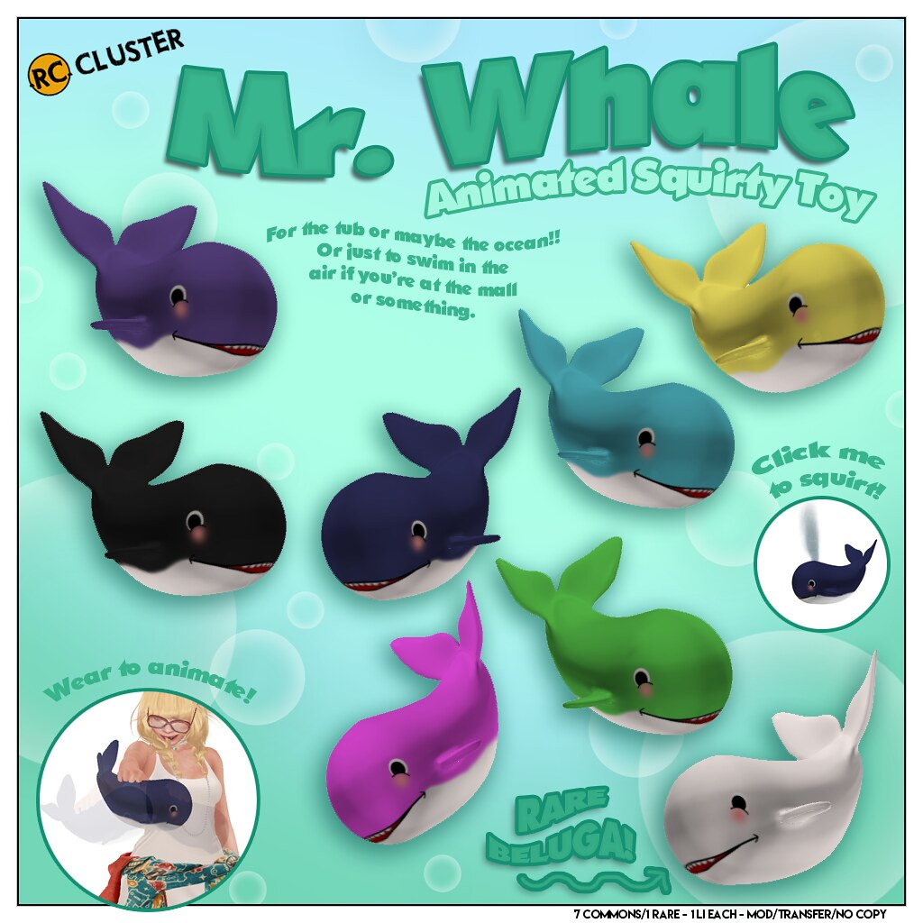 -RC- Mr. Whale Animated squirty toy - SecondLifeHub.com