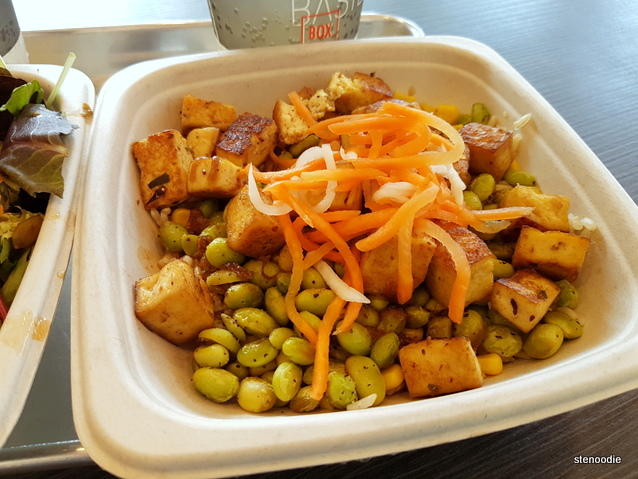 Coconut Curry Tofu with Roasted Edamame