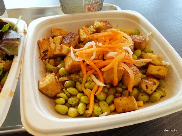 Coconut Curry Tofu with Roasted Edamame