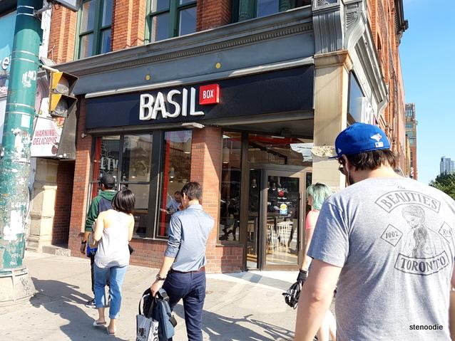 Basil Box Queen & Spadina storefront
