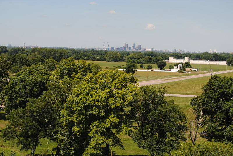 View of Saint Louis from Monks Mound