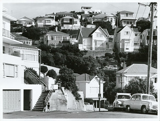 Hillside dwellings Mount Victoria, Wellington