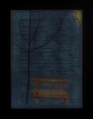 """In Memoriam Actress Kammerschauspielerin Hilde Sochor (1924 Wien Breitensee - 2017) Drawing on the List: Curtain Calls Applausordnung, Soufflierbuch """"Späte Gegend - 2 Texte"""" (Lida Winiewicz) Premiere 2003 Bäuerin: Hilde Sochor, Städterin: Birgit Doll"""