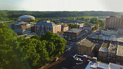Verdant campus.