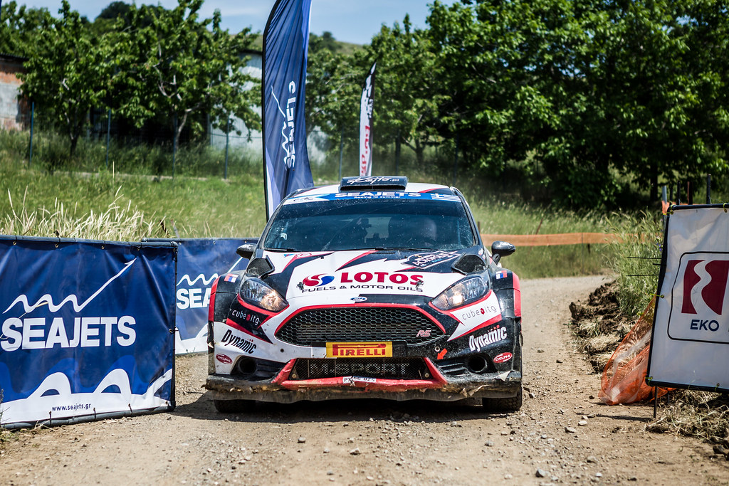 02 KAJETANOWICZ Kajetan (pol) and BARAN Jaroslaw (pol) action during the European Rally Championship 2017 - Acropolis Rally Of Grece - From June 2 to 4 - Photo Thomas Fenetre / DPPI