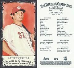 2009 Topps Allen & Ginter's Mini Black Border Baseball Card - JAY BRUCE (Outfielder) Cincinnati Reds (#1)