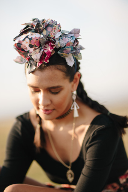 Origami Floral Headpiece