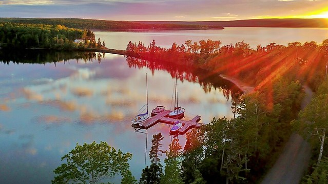 Sunset on the Bras d'Or Lake
