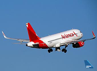Avianca A319 climbing (RD)