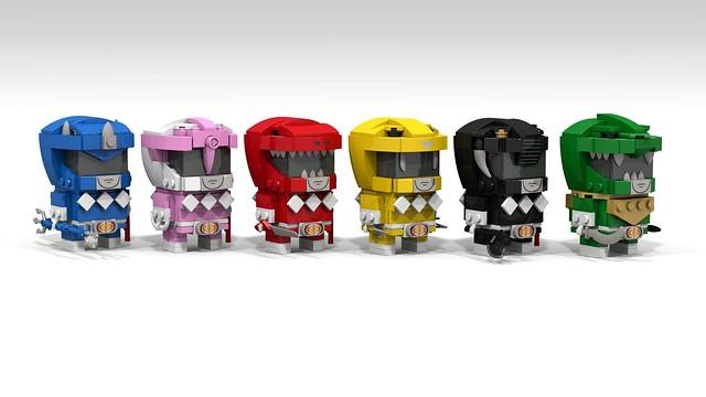 Brickheadz Mighty Morphin' Power Rangers MMPR