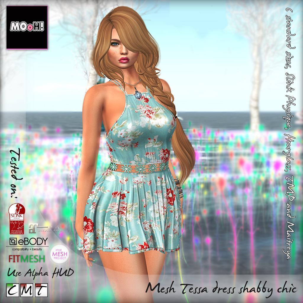 Tessa dress shabby chic - SecondLifeHub.com
