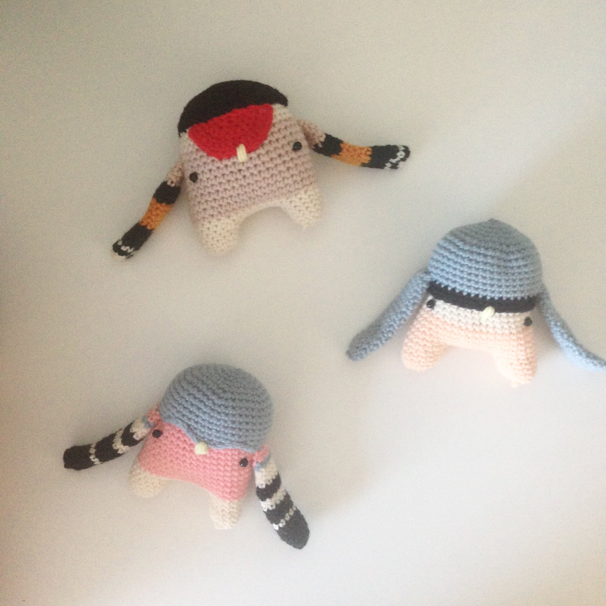 Nuthatch crochet bird of the week