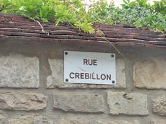 Rue Crébillon, Flavigny-sur-Ozerain - road sign