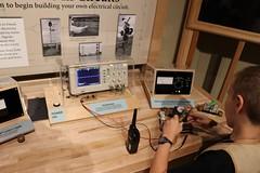 10-yr-old with an oscilloscope