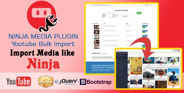 Ninja Media Bulk Youtube Importer Plugin