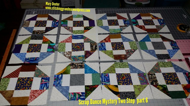 12 Scrap Dance Two Step Blocks - Part 6