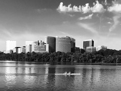 Rosslyn in black and white