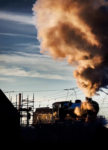 merlin no85 440 compound 2c ireland rpsi dublin steam locomotive railway railroad evening gnr