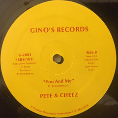 PETE & CHEEZ:SO SMOOTH(LABEL SIDE-B)