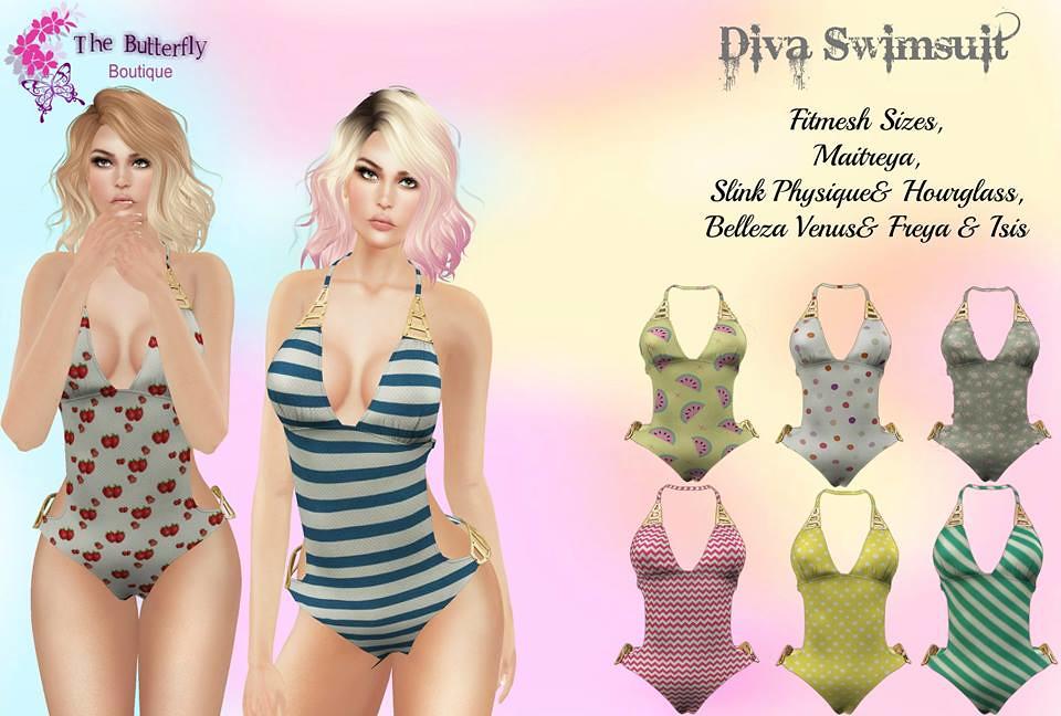Diva Swimsuit  @Inspiration - SecondLifeHub.com