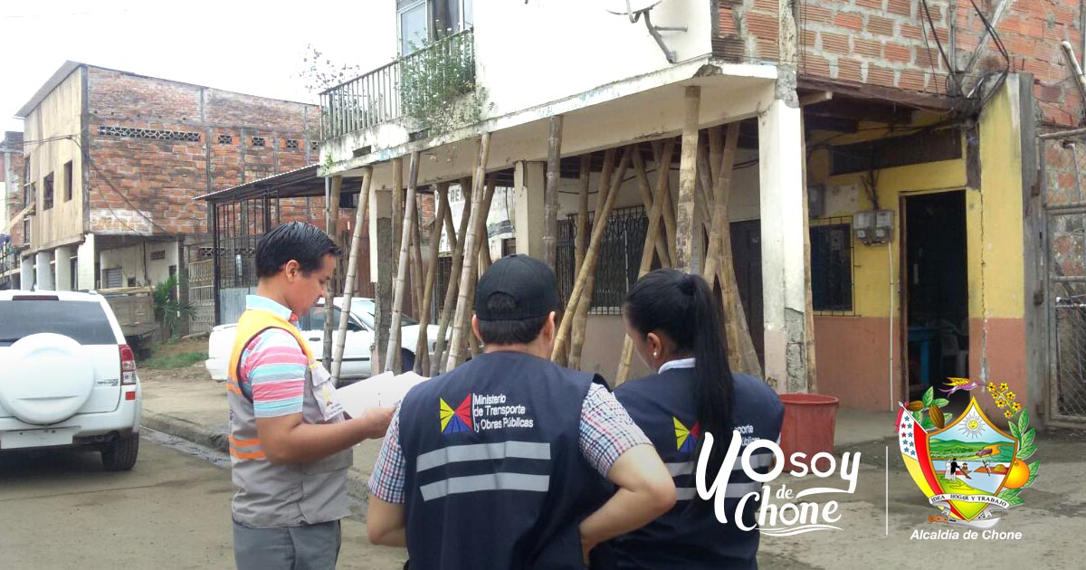 En Chone, 19 viviendas serán demolidas
