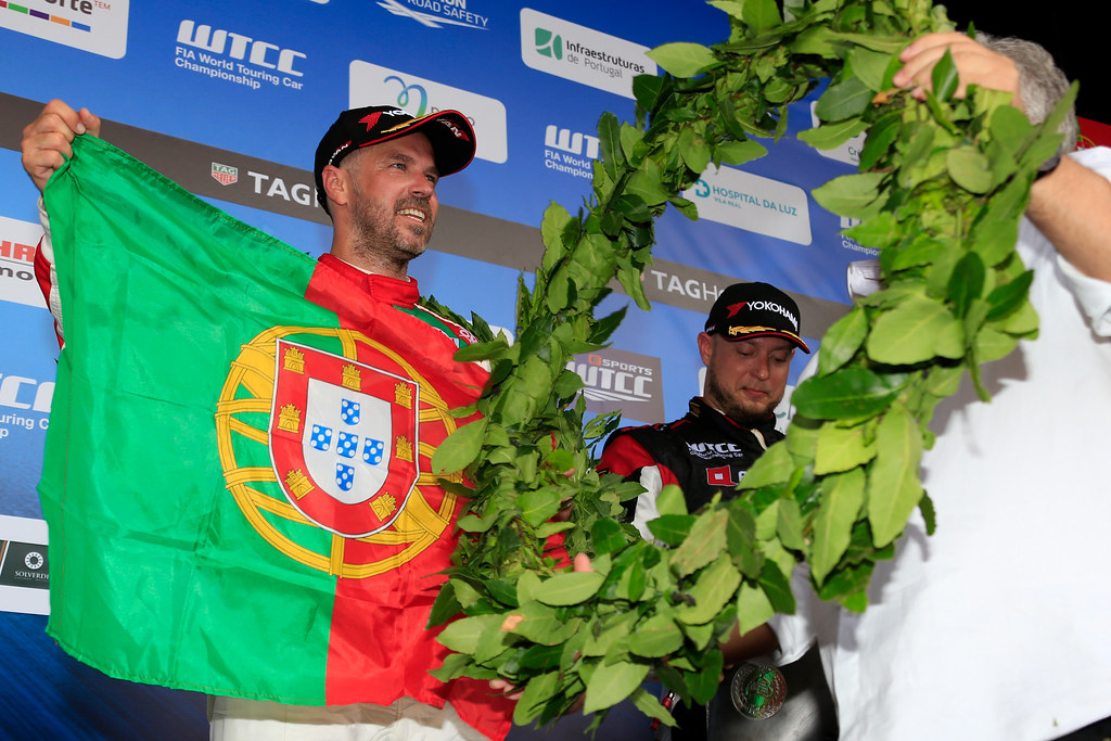 podium ambiance MONTEIRO Tiago (prt) Honda Civic team Castrol Honda WTC ambiance portrait during the 2017 FIA WTCC World Touring Car Championship race of Portugal, Vila Real from june 23 to 25 - Photo Paulo Maria / DPPI