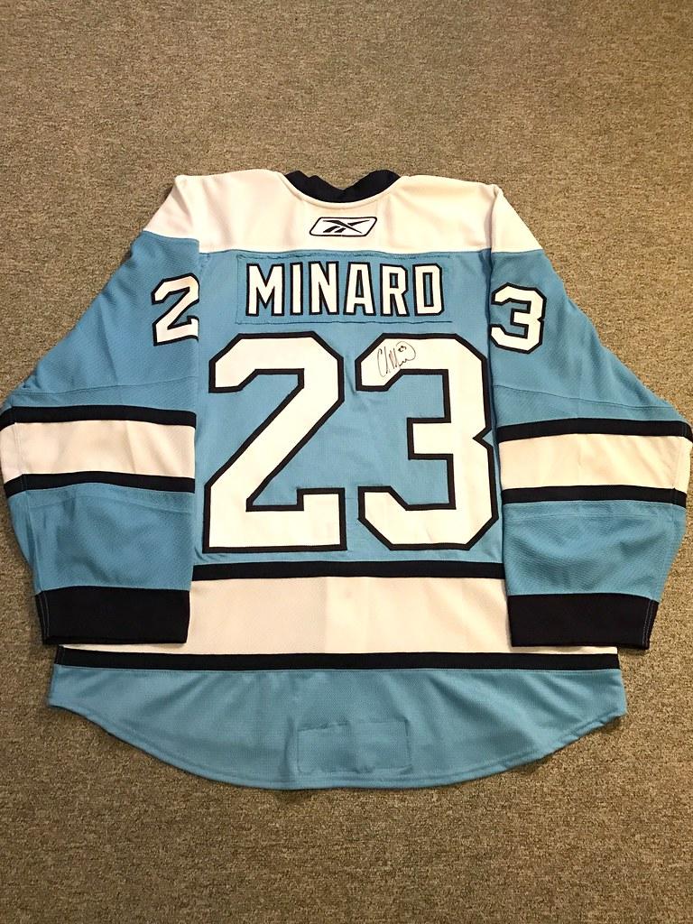 Pittsburgh Penguins 2007/2008 GI Alternate Chris Minard Reebok Edge 2.0 Sz. 58 (back)
