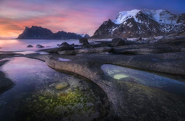 Norway light/ uttakleiv at sunset