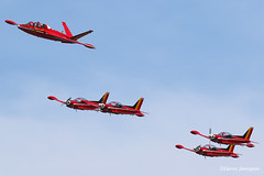Red Devils demo team with Potez-Air Fouga CM.170-1 Magister N216DM / MT-5