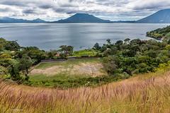 Volcano ringed Lake Atitlan, Guatemala