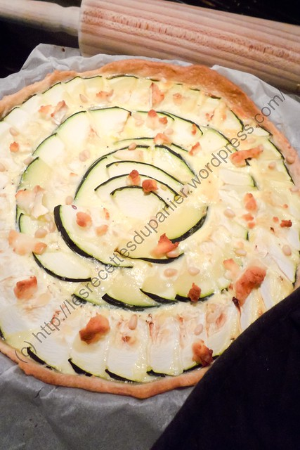 Tarte aux courgettes et au chèvre / Zucchini and Goat Cheese Pie