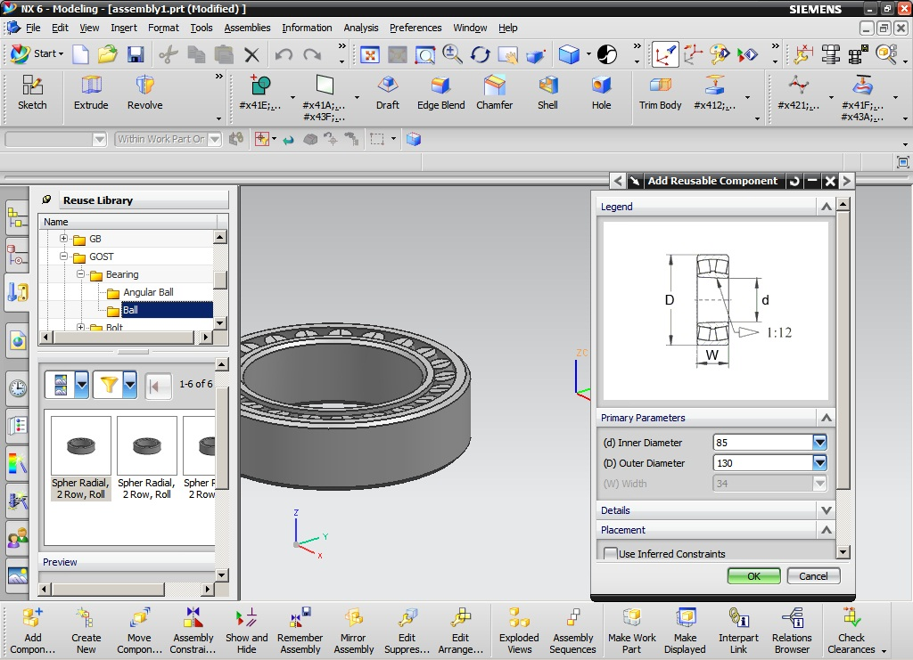 Siemens NX 6.0 Standard Parts Library