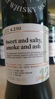 SMWS 4.230 - Sweet and salty, smoke and ash