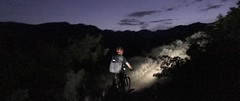 Night riding with Exposure lights, PressCamp 2017