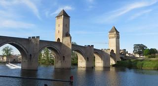 Pont Valentré (XIVe), Cahors, Lot, Occitanie, France.