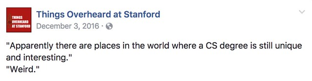 Things Overheard at Stanford: Posts