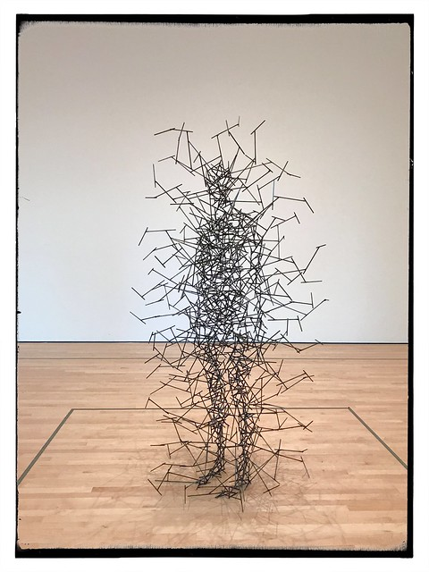 Quantum Cloud VIII by Antony Gormley was part of a small exhibition of British sculpture.