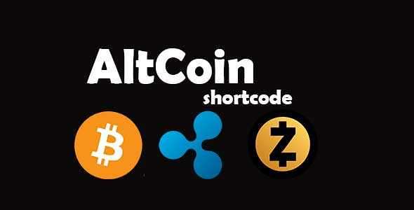 AltCoin ShortCode WordPress Plugin free download