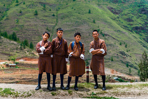 School boys in Bhutan