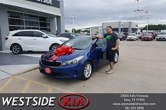 Congratulations Cody on your #Kia #Forte from Rubel Chowdhury at Westside Kia!