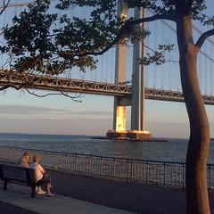 #sunset #закат #VerrazanoNarrows #Bridge #VerrazanoNarrowsBridge #Verrazano #VerrazanoBridge #Brooklyn #NewYorkCity #NewYork
