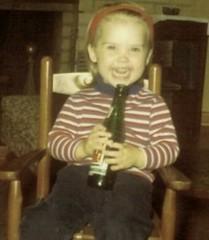 70's 7up Smile. Glass bottle.