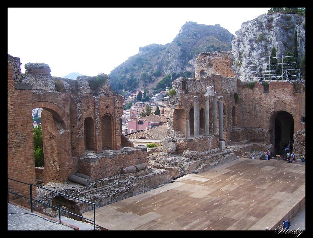 Crucero por el Mediterráneo - Teatro griego de Taormina