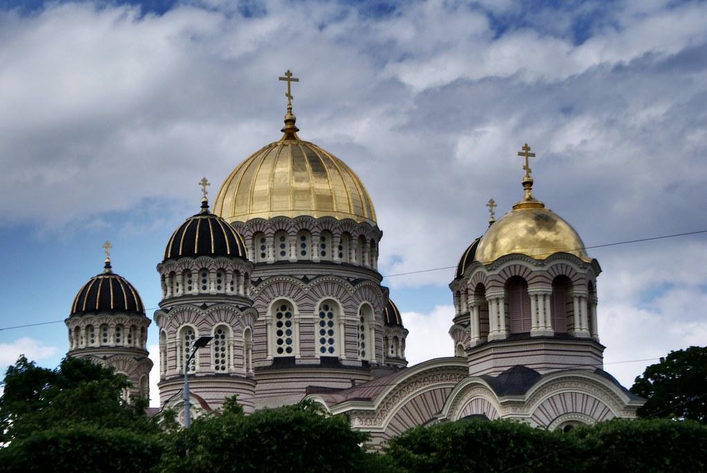 Cathédrale orthodoxe de la nativité à Riga.